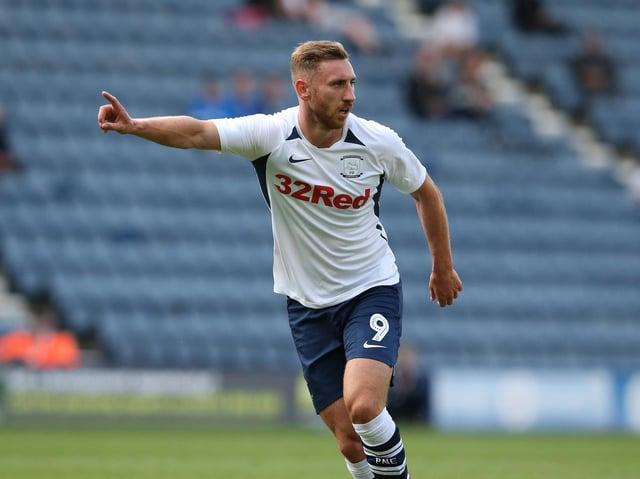 Preston North End striker Louis Moult