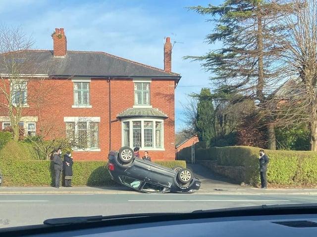 The crash happened on Garstang Road, opposite the junction of Regent Drive. (Credit: Howard Jones)