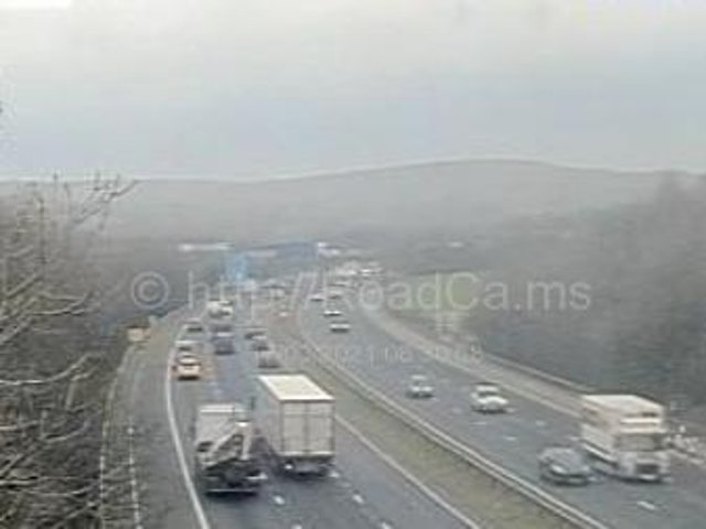 Police have closed the M6 northbound - between junctions 34 (Lancaster, Morecambe) and 34 (Carnforth) due to a person driving the wrong way on the motorway