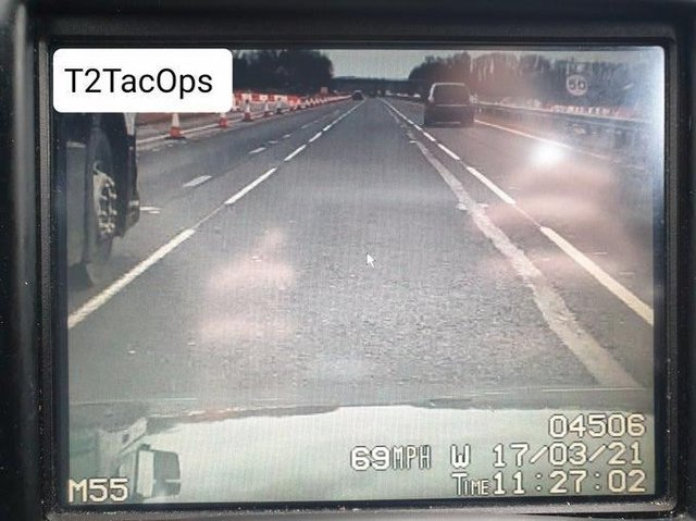 "Police said the driver ""failed to see the 50mph speed limit on their journey"". (Credit: Lancashire Police)"