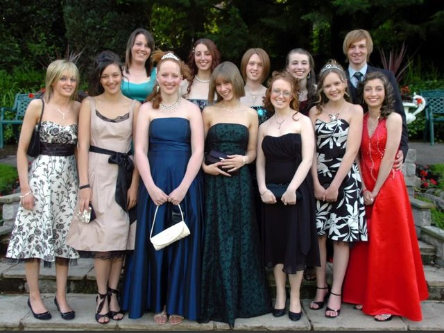 Pupils and friends pictured at the Penwortham Girls High School Leavers Ball at The Pines, Whittle-le-Woods in 2007