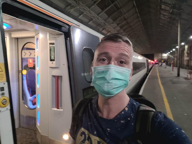 """Home safe and sound"" - Andrew Neale, 35, arrived home last night after a two-week ordeal that saw him quarantined in Germany during a lay over from Thailand to Manchester whilst flying home for his dad's funeral"