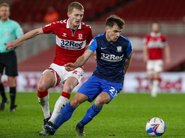 Jayson Molumby in action against Middlesbrough.