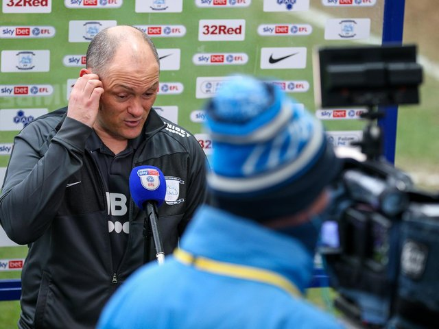 Alex Neil during his post-match interview after the Luton defeat