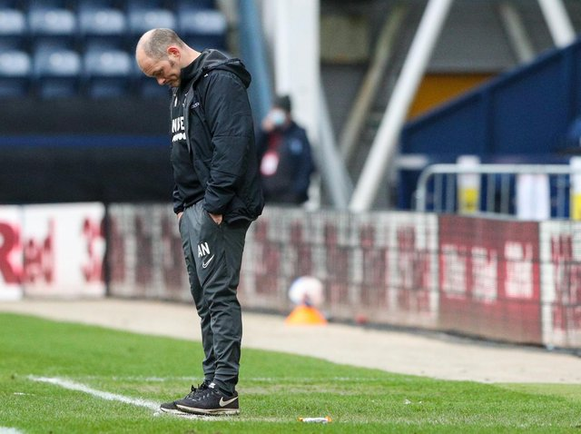 Former Preston manager Alex Neil during his side's defeat to Luton Town.