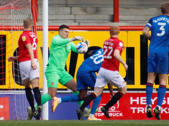 Morecambe keeper Kyle Letheren helped them to a first clean sheet in 12 matches