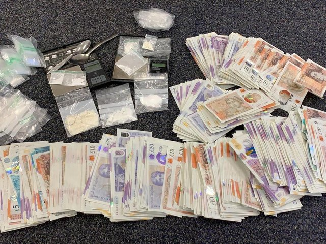 The drugs and money seized