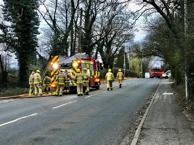 At around 4am this morning (March 23), crews responded a fire at a lawn mower repair workshop, off Preston Road, opposite Charnock Richard Crematorium