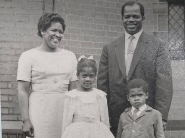 Hannah, Oliver and two of their four children in Chorley in the 1950s.
