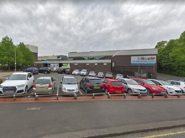 Refurbishment works are taking place at Leyland Leisure Centre this week, with painting, landscaping and new signage among the works being carried out