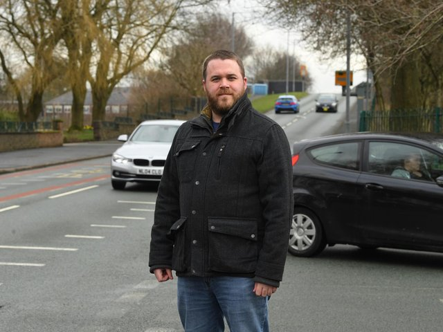 Cllr John Potter at the junction of Cadley Causeway and Mill Lane