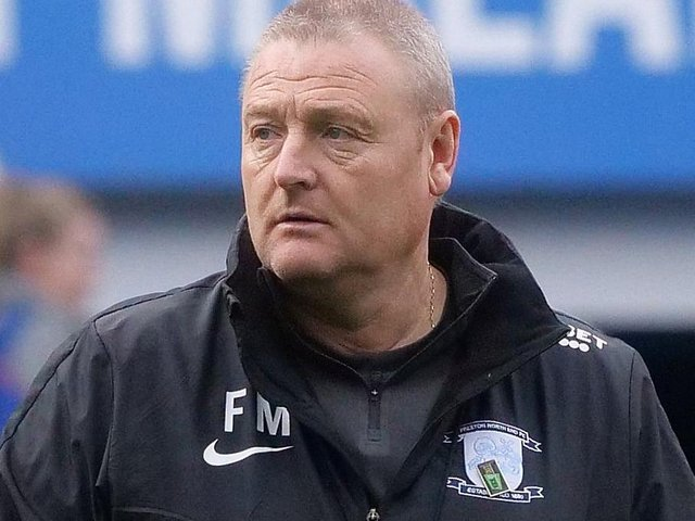 PNE interim head coach Frankie McAvoy