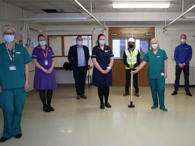 Dr Geraldine Skailes Medical Director, Matron Zoe Geddes, Billy McNicholas, Contracts Manager, Ward Manager Danielle Jackson, Darren Westcott, Project Manager, Alison Birtle Oncology Consultant, Dan Hill Chief Officer for Rosemere