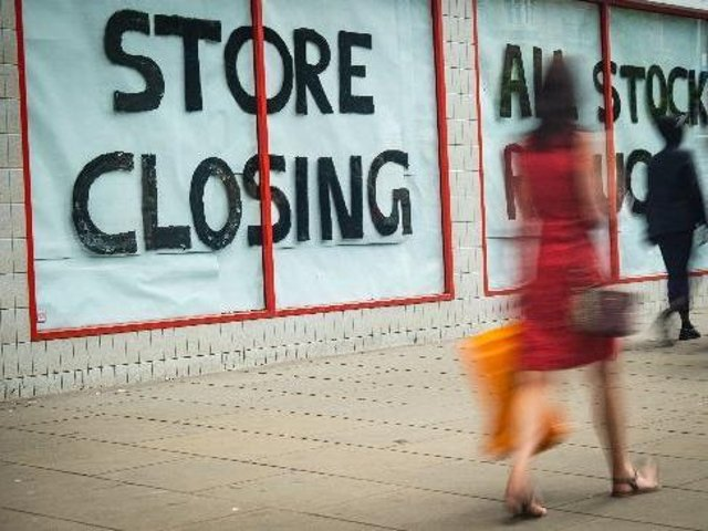 The study compares the number of chain stores shops opening or closing