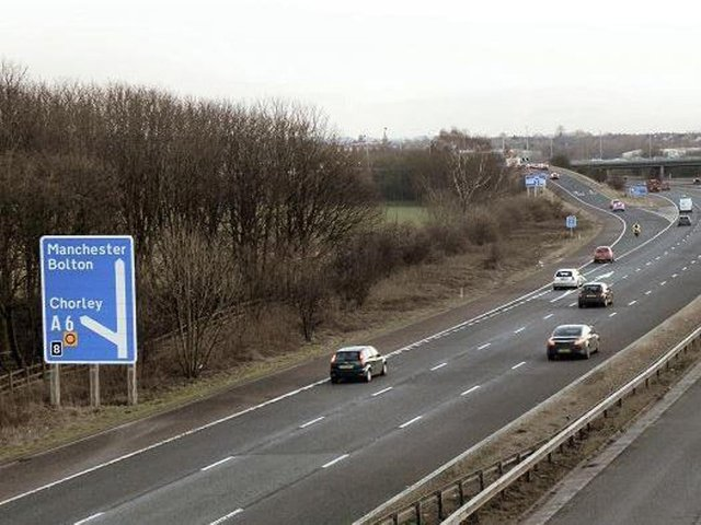 The incident has led to a lane closure between junctions 9 (which meets M65 junction 2 at Clayton Brook) and 8 (Chorley, A674 Millennium Way, A6), which is causing delays to southbound traffic