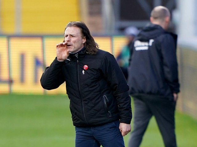 Wycombe Wanderers manager Gareth Ainsworth during the 1-0 win against Preston North End