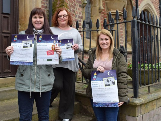 Kirkham shopkeepers Sarah Mangan (Celebrations), Heidi Hopkinson (Serendipity House) and Paula Ardron-Gemmell (Pink Tree Parties) throw their support behind the Heritage Treasure Trail