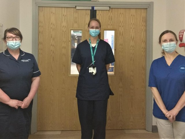 Dr Vera Gotz (centre) with ITU nurse Anne-Marie Kelly (right), who was involved in several organ donations last year at the RLI and Sister Claire Shaw, Unit Manager at the RLI.