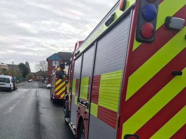 Two fire engines from Preston were sent to the scene in Sedgwick Street. (Credit: @Preston_Fire)