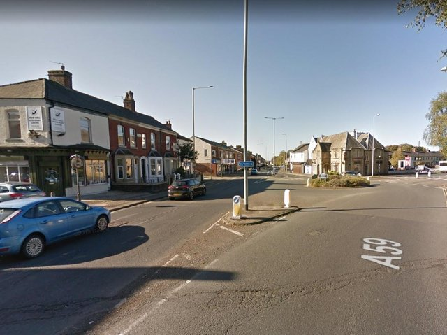 The crash happened at the New Hall Lane roundabout junction with Blackpool Road at around 2.40pm. Pic: Google