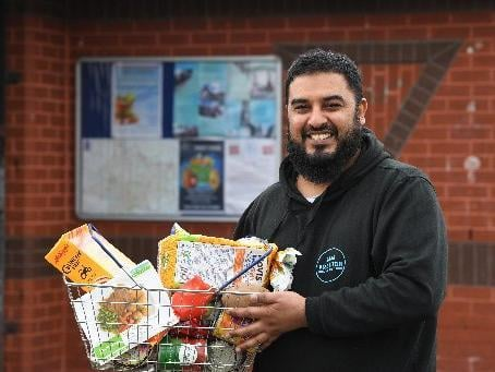 Taz Ali at the Preston Community Hub, photo: Neil Cross