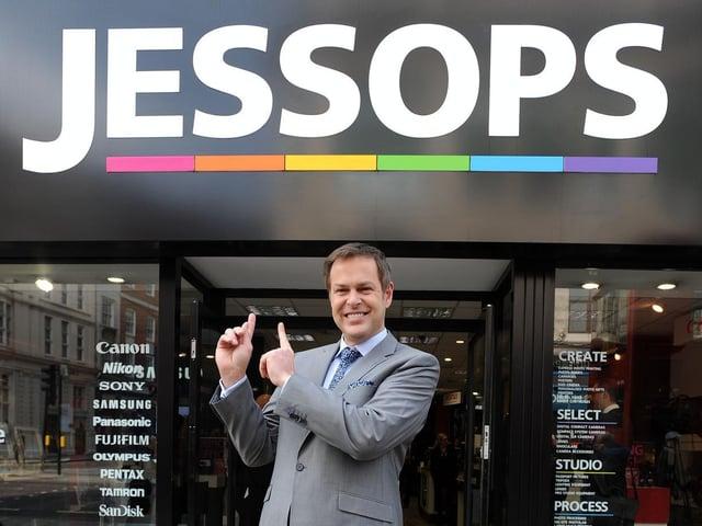 Peter Jones outside the Jessops store in Oxford Street, central London