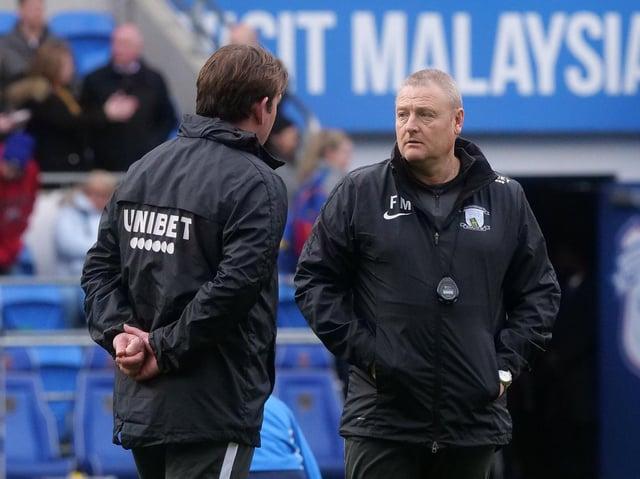 Preston North End interim head coach Frankie McAvoy with Steve Thompson