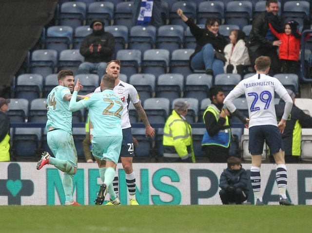 Preston North End's last game before lockdown in March 2020 against QPR