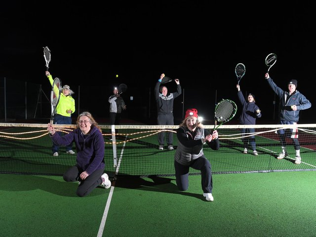Withnell Fold Tennis Club mark the easing of restrictions with a midnight game.