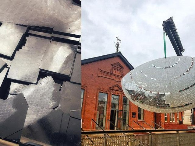 Blackpool's mirror ball is being refurbished at a cost of £60,000, photo: Blackpool and the Fylde College.