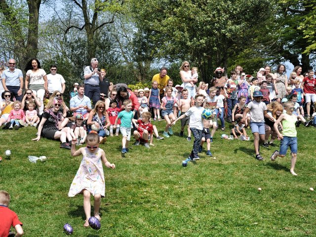 Children enjoy egg rolling in Avenham Park in 2019. This year's even has been cancelled because of the pandemic