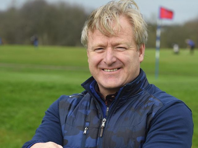 Preston Golf Club's captain Stewart Birchall was back on the fairways on Monday morning after three months away from the sport
