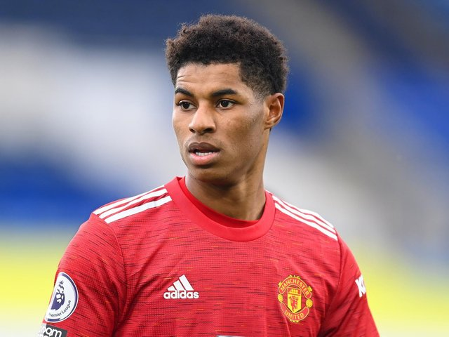 Marcus Rashford has praised a young Burnley boy for his terrific fundraising efforts to help feed families