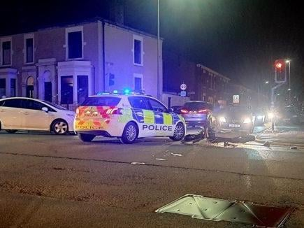The crash happened at the junction of Deepdale Road and St George's Road, Preston at around 7.40pm on Saturday (March 27). Credit: Shane New