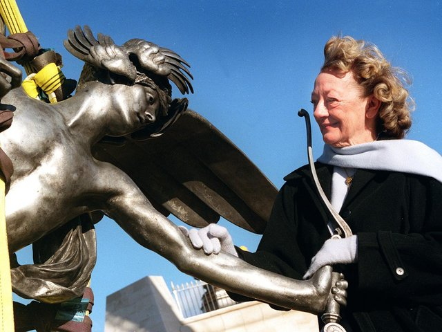 The dream of Fisherman's Friend founder Doreen Lofthouse became reality when the statue of Eros was mounted on its plinth. The statue was put in place to act as a welcome to Fleetwood, located as it is in the middle of a roundabout on Amounderness Way.