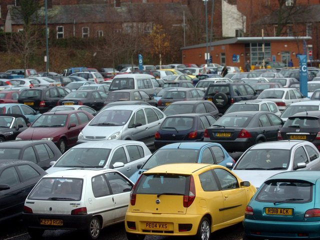 The volume of Christmas shoppers has caused chaos on the roads of Preston