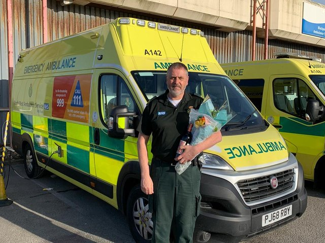 Dave Rigby, retiring from his role at the NWAS Waterloo Road station in Blackpool