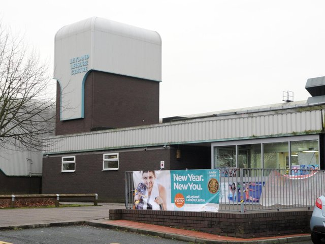 Leyland Leisure Centre, one of four facilities in South Ribble set to reopen on April 12