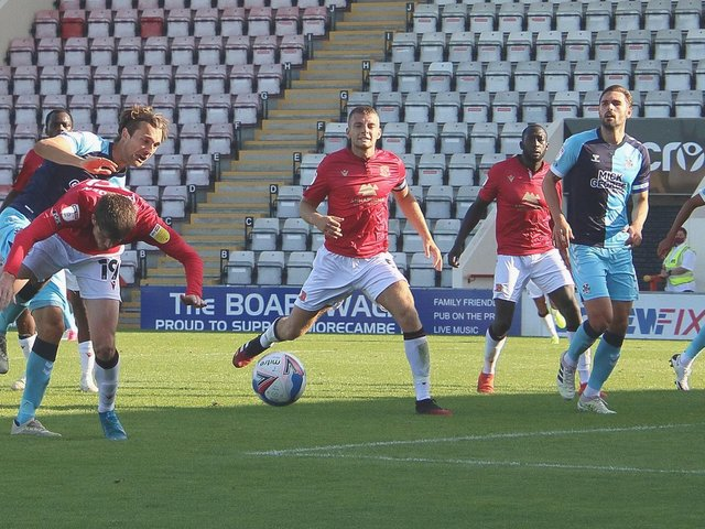 Morecambe were well beaten by Cambridge United when the sides met last September