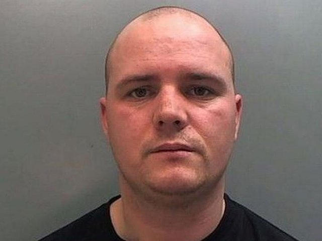 Alan Daniels, 38, led the raid on the farm in Aughton, near Ormskirk, where the Kirkby-based gang made their way through the home, all toting guns. Pic: Lancashire Police