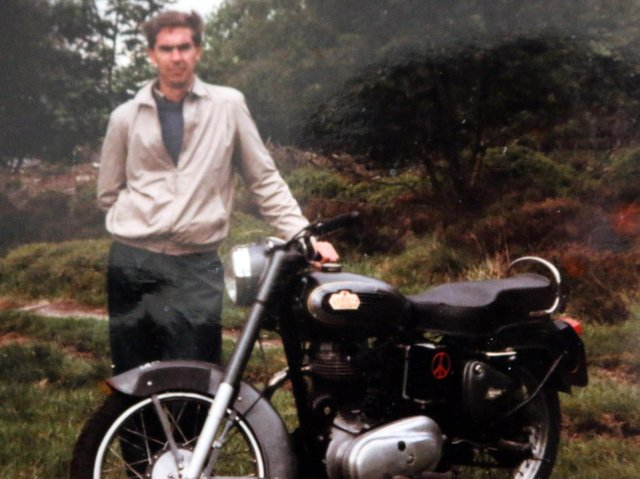 Michael in 1980 after completing his journey on his Royal Enfield 350 Bullet