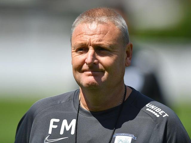 Preston North End interim head coach Frankie McAvoy