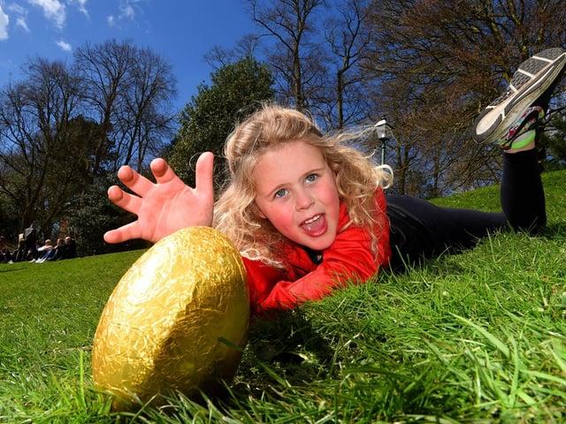 The unofficial Easter egg rolling at Avenham Park, Preston
