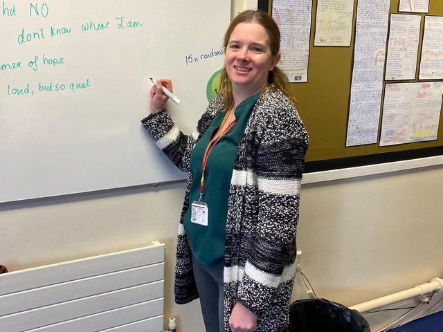Former solicitor Christina Grainger, 41, is currently retraining as a teacher.