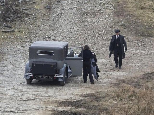 Peaky Blinders star Cilian Murphy has been captured in behind-the-scene shots