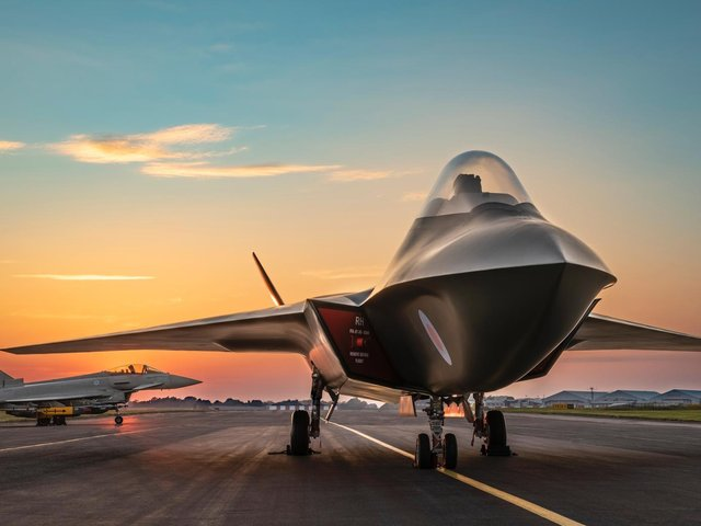 BAE Systems' Tempest prototype for the next generation air defence aircraft, one of the major projects carrying the job hopes of thousands in Lancashire