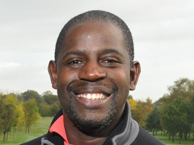 Lenny Johnrose pictured in 2018 at a golf day held for his charity