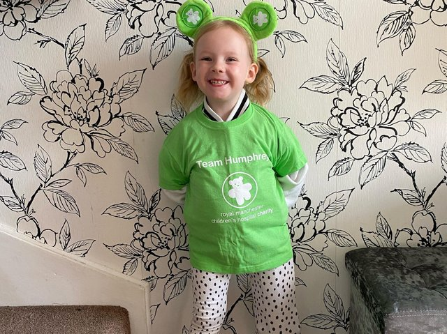 A smiling Quinn Stansfield is ready for her 30 mile challenge charity walk