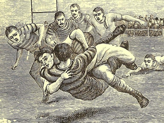 There was plenty of rough and tumble in the early days of rugby