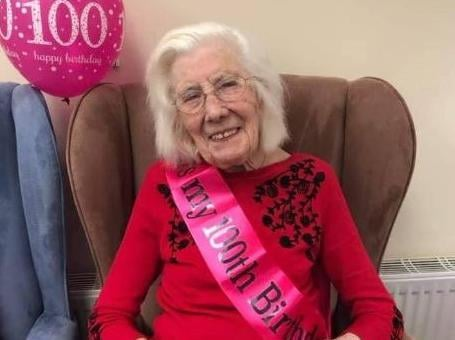 Rosena Garner was able to enjoy her birthday celebrations at Brookside Care Home in Bamber Bridge on April 4
